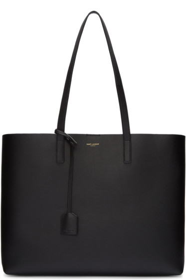 Saint Laurent - Black Large Shopping Tote Bag
