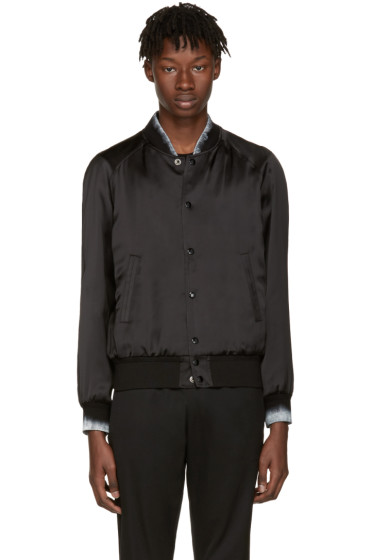 Saint Laurent - Black Moonlight Teddy Bomber Jacket