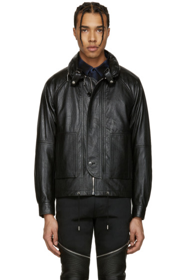 Saint Laurent - Black Leather Slouchy Jacket