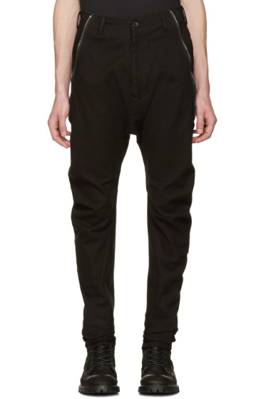 Julius - Black Twisted Flight Trousers