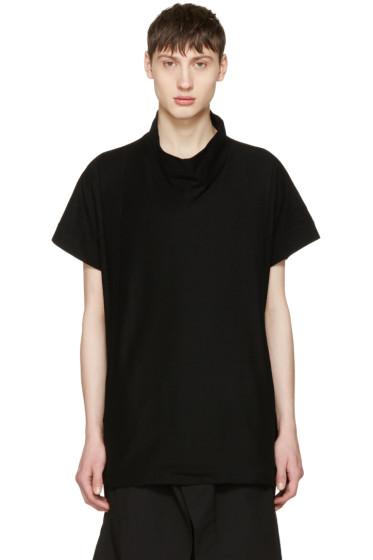 Julius - Black High Neck T-Shirt