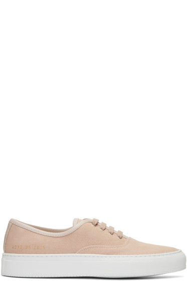 Woman by Common Projects - Pink Canvas Tournament Four Hole Sneakers