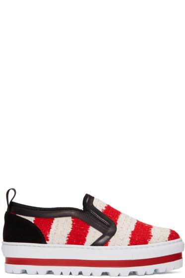 MSGM - Tricolor Platform Sneakers