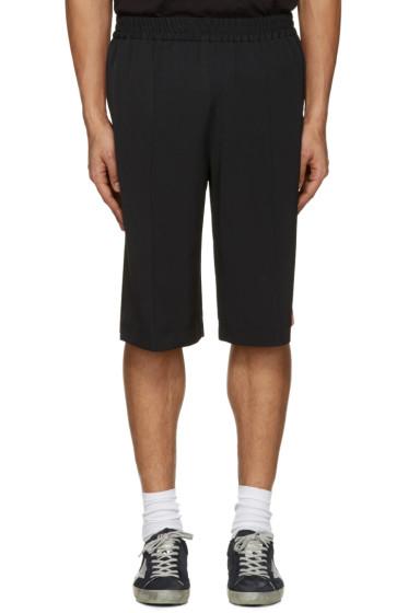 MSGM - Black Striped Track Shorts