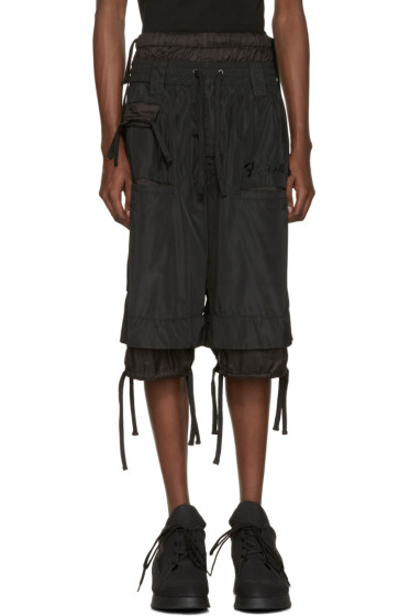 KTZ - Black Embroidered Shorts