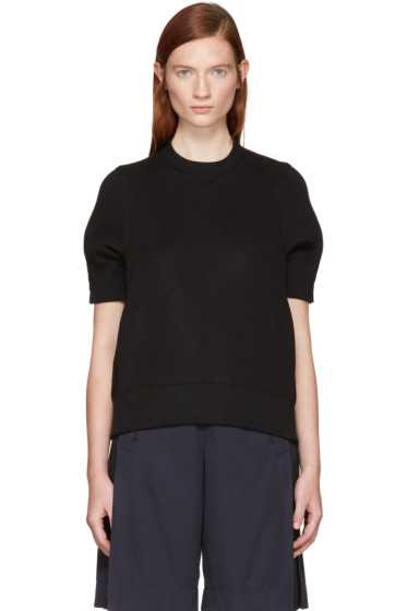 Sacai - Black Panelled Pullover