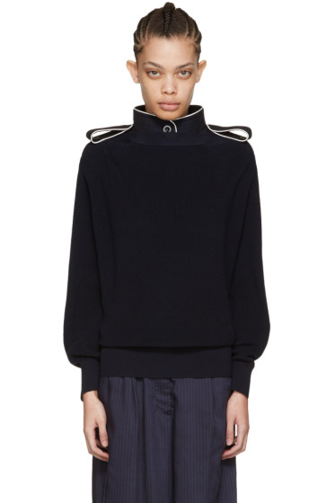 Sacai - Navy Laced Pullover