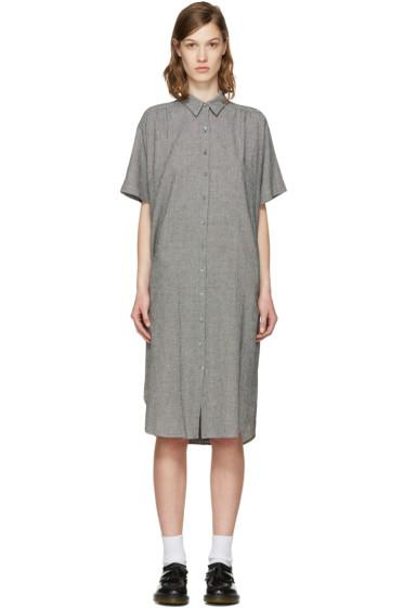 6397 - ブラック & ホワイト サマー シャツ ドレス