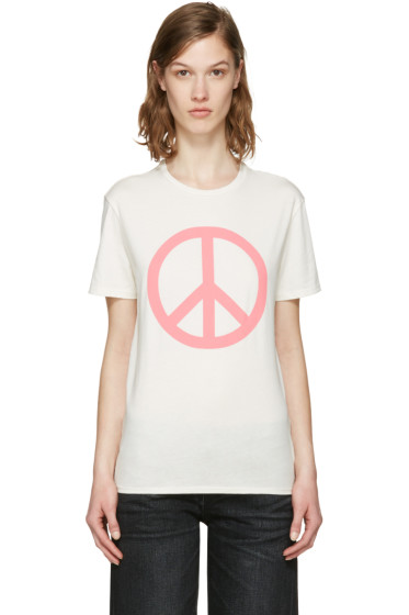 6397 - SSENSE Exclusive White Peace NY T-Shirt