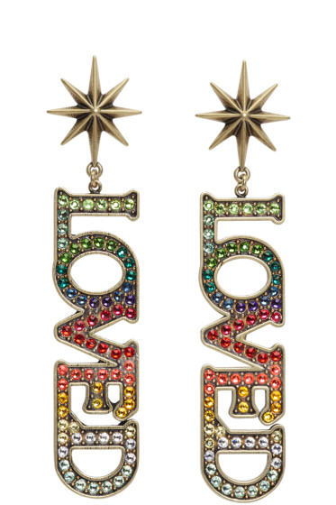 Gucci - Gold Small 'Loved' Earrings