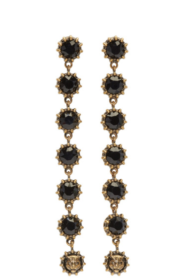 Gucci - Black Crystal Earrings