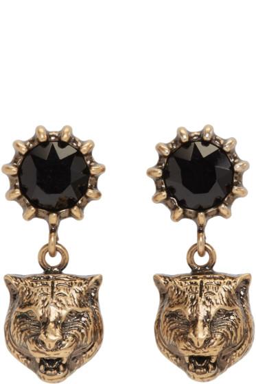Gucci - Gold Feline Earrings