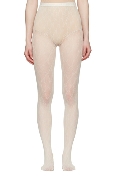 Gucci - Ivory GG Supreme Stockings