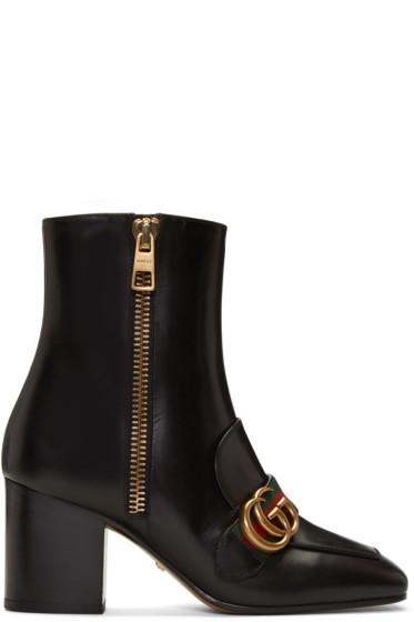 Gucci - Black Peyton Logo Boots