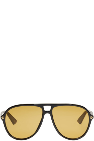 Gucci - Black Urban Pilot Sunglasses