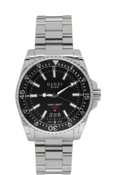 Gucci - Silver XL Dive Watch