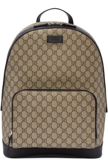Gucci - Beige GG Supreme Backpack