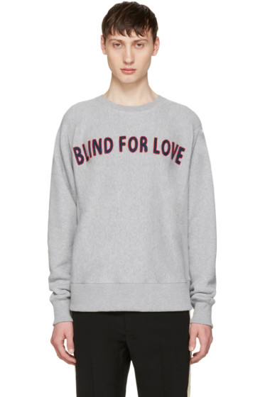 Gucci - Grey 'Blind For Love' Pullover
