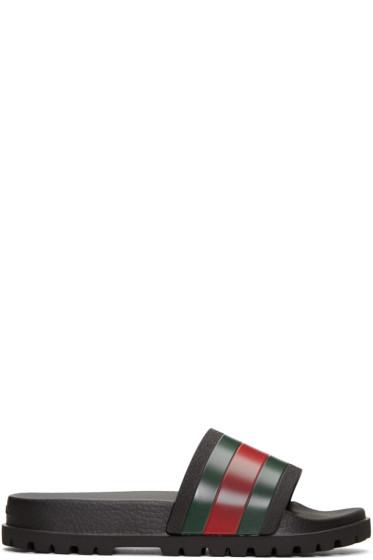 Gucci - Tricolor Pursuit Trek Stripes Sandals