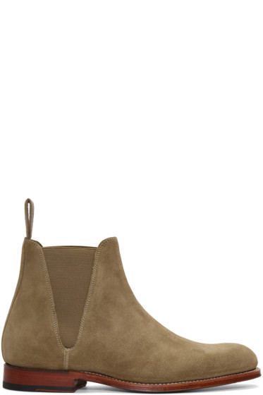 Grenson - Taupe Suede Nolan Boots