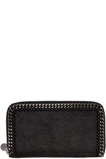 Stella McCartney - Black Falabella Zip Wallet