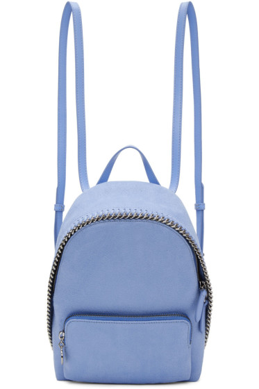 Stella McCartney - Blue Mini Falabella Backpack
