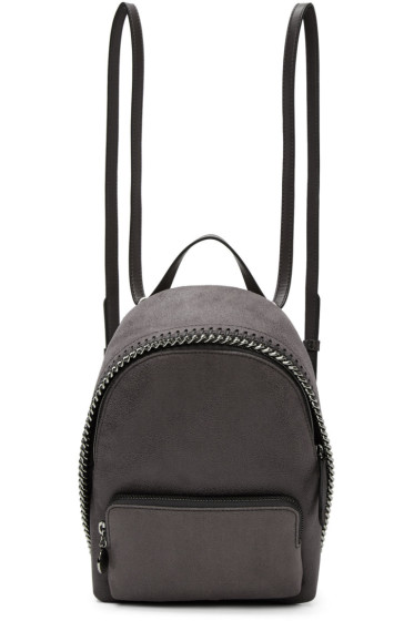 Stella McCartney - Grey Mini Falabella Backpack