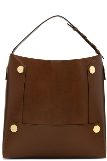 Stella McCartney - Brown Popper Bucket Tote