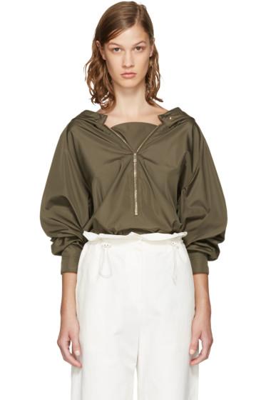 Stella McCartney - Khaki Christy Parka Coat
