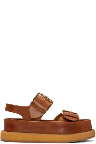 Stella McCartney - Brown Buckles Sandals