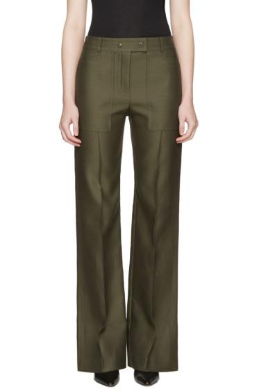 Nina Ricci - Green High Waist Wide-Leg Trousers