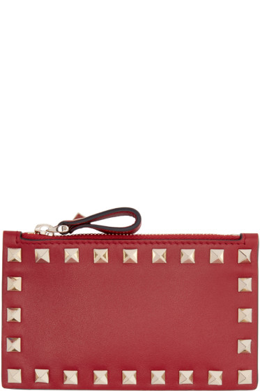 Valentino - Red Rockstud Coin Pouch