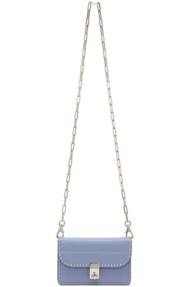 Valentino - Blue Small Stud Stitching Wallet Chain Bag