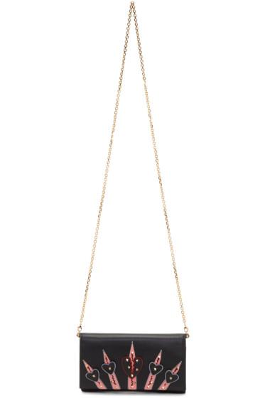 Valentino - Black Small Love Blade Wallet Chain Bag
