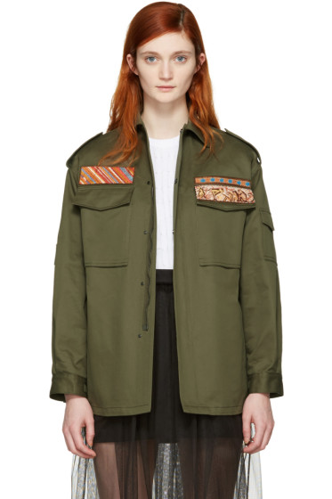 Valentino - Green Military Cargo Jacket
