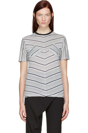J.W. Anderson - Navy Double Patch T-Shirt