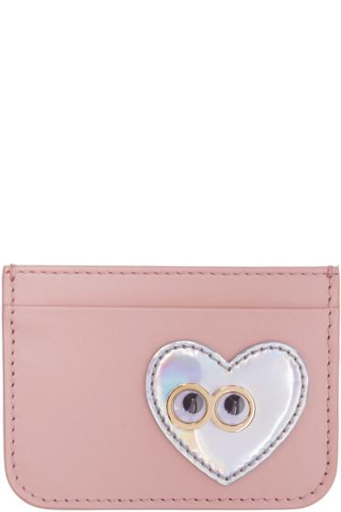 Sophie Hulme - Pink Heart & Eyes Rosebery Card Holder
