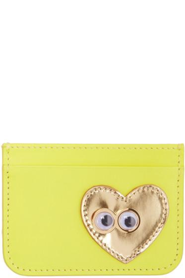 Sophie Hulme - Yellow Heart & Eyes Rosebery Card Holder