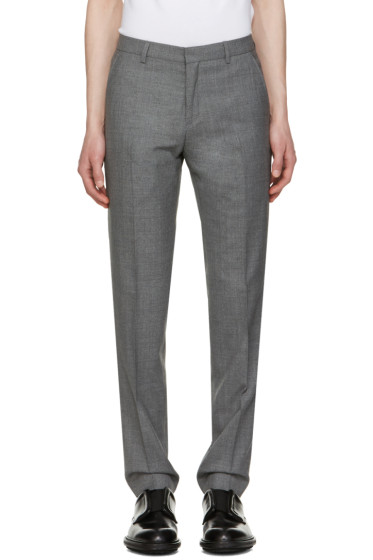 AMI Alexandre Mattiussi - Grey Wool Trousers