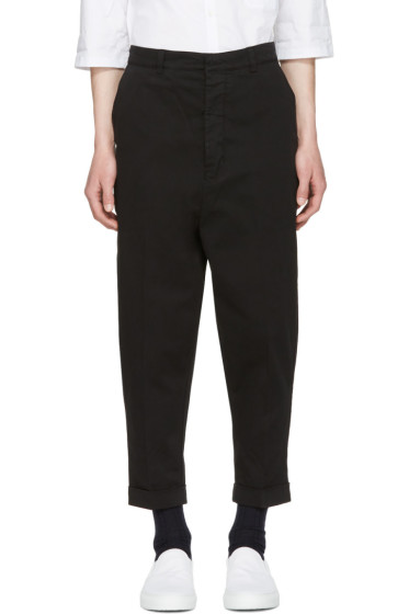 AMI Alexandre Mattiussi - Black Oversized Carrot Trousers
