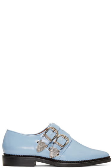 Toga Pulla - Blue Two-Buckle Loafers