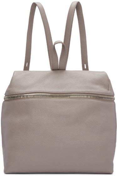 Kara - Pink Leather Large Backpack