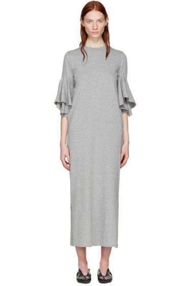 Facetasm - Grey Flare Sleeve Dress