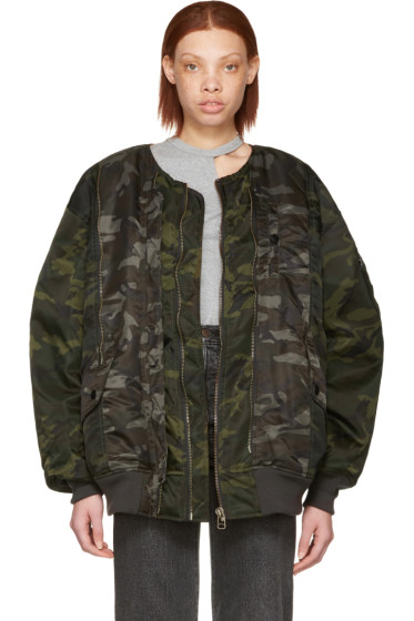 Facetasm - Green Camo Bug MA-1 Bomber Jacket