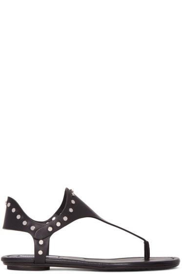 Jimmy Choo - Black Studded Dara Sandals