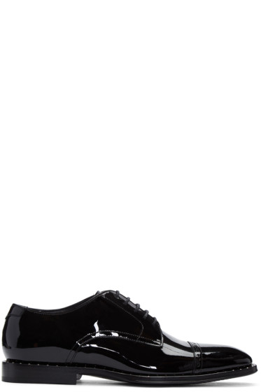 Jimmy Choo - Black Patent Leather Penn Oxfords