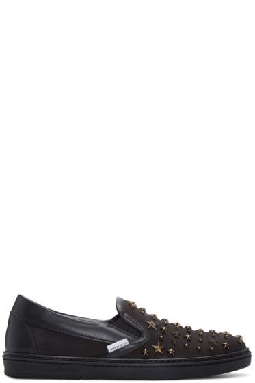 Jimmy Choo - Black Star Grove Slip-On Sneakers