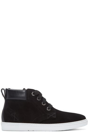 Jimmy Choo - Black Suede Smith High-Top Sneakers
