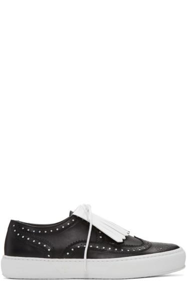 Robert Clergerie - Black Tolka Brogue Sneakers