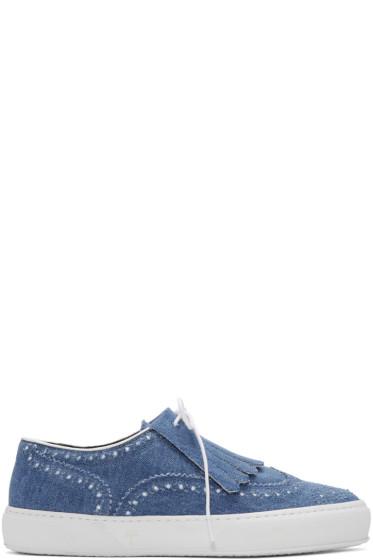 Robert Clergerie - Blue Tolka Denim Sneakers